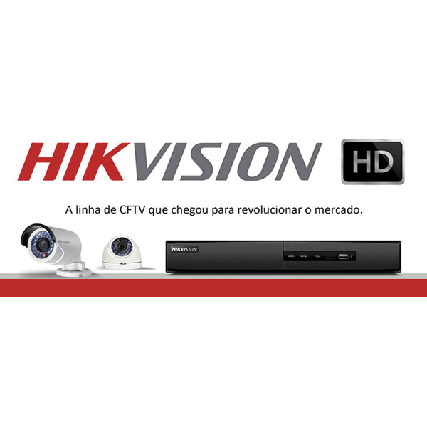 Câmera Dome Infravermelho HDTVI Turbo HD Hikvision HD 720p 2,8mm  - Tudo Forte