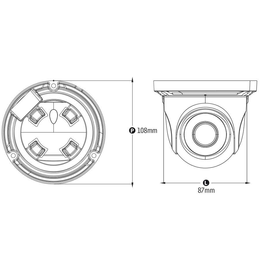 Câmera IP Dome Infravermelho TW-IDM100 Tecvoz 1.0MP (720p) Lente 3,6mm