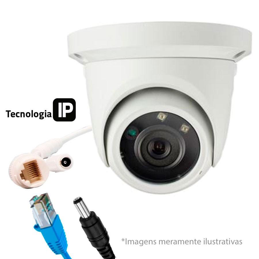Câmera IP Dome Infra Tecvoz 1.3 Mp Lente de 3,6mm, PoE, OnVif, 30 Mts, TW-IDM130