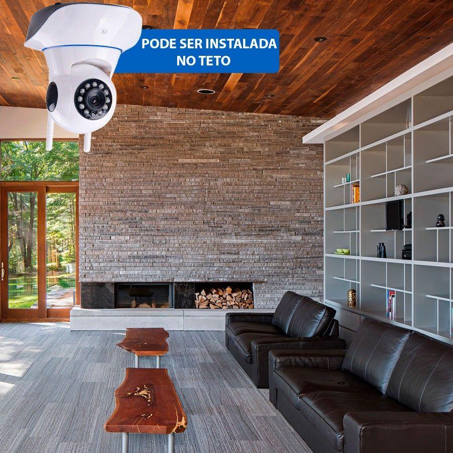 Câmera IP Sem Fio Wifi HD 720p Robo Wireless, Com áudio, Grava em Cartão SD, com 2 Antenas e Visão Noturna  - Tudo Forte