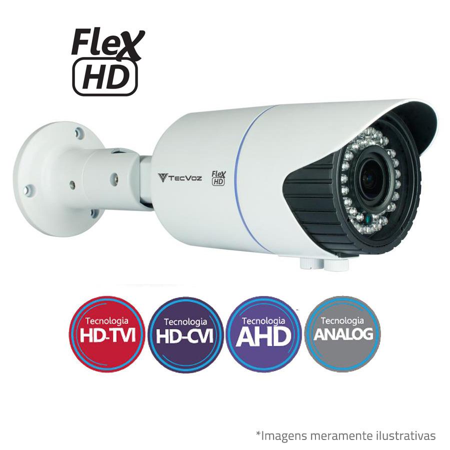 Câmera Bullet Varifocal HD Tecvoz Flex QCB 10V IR 40m -  720p