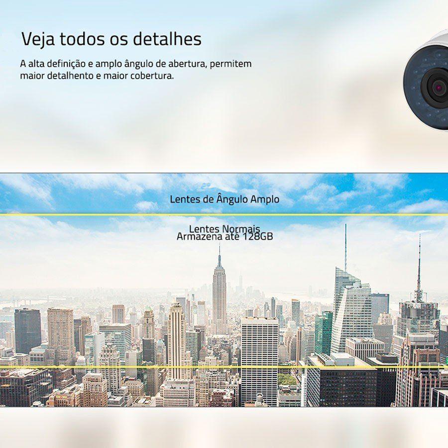 Câmera Wifi Mibo iC5 Intelbras Sem Fio com IP66 + Cartão de memória 64Gb  - Tudo Forte