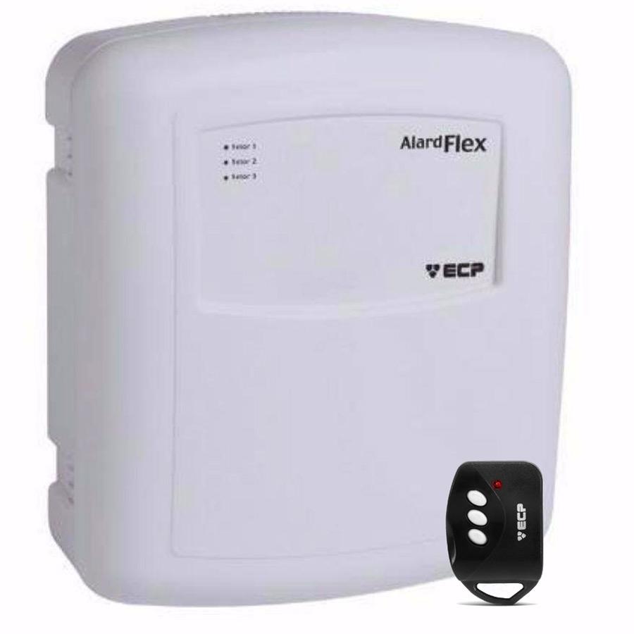 Central de Alarme Alard Flex 1 ECP com 01 Controle Remoto, 1 Setor Com e/ou Sem Fio  - Tudo Forte