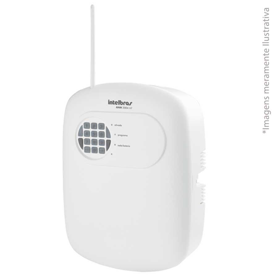 Central de Alarme Intelbras Alarme não monitorada ANM 2004 MF com 4 zonas (2 mistas e 2 sem fio)
