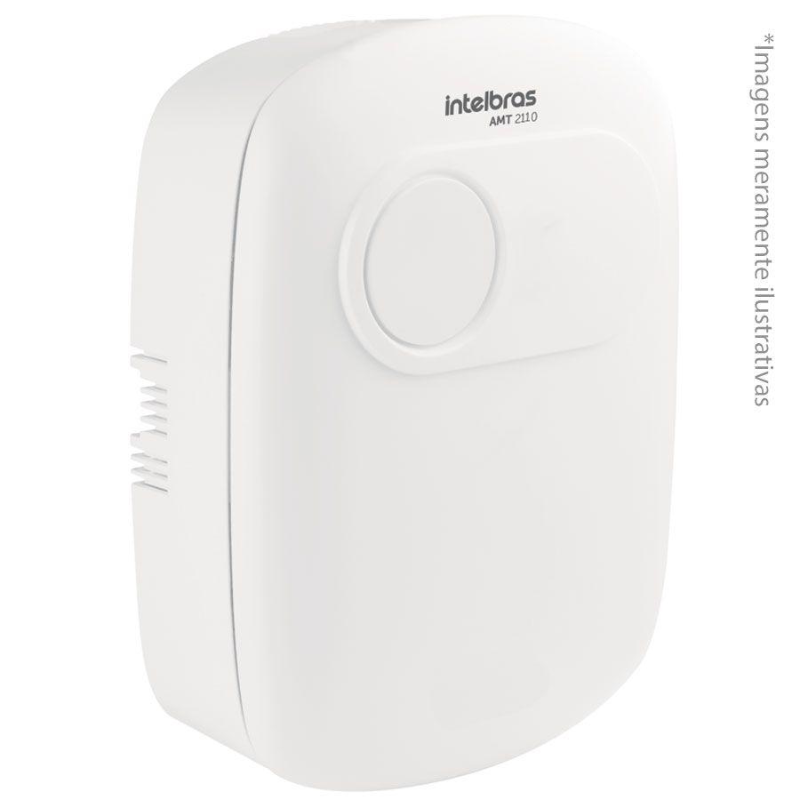 Central de Alarme Intelbras AMT 2110, Alarme monitorado com 10 zonas (10 com fio + 16 sem fio), Via linha telefônica, 2 Partições, Discadora
