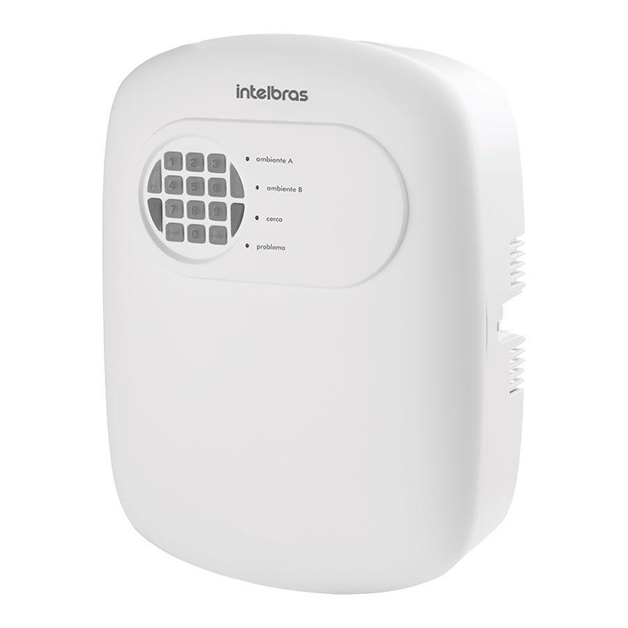 Central de Alarme Sem Fio Intelbras AMT 2008 RF, Alarme monitorado com 8 zonas (4 + 4 com fio 8 sem fio), Via linha telefônica, 2 Partições, Discadora, Acesso Remoto via Telefone  - Tudo Forte
