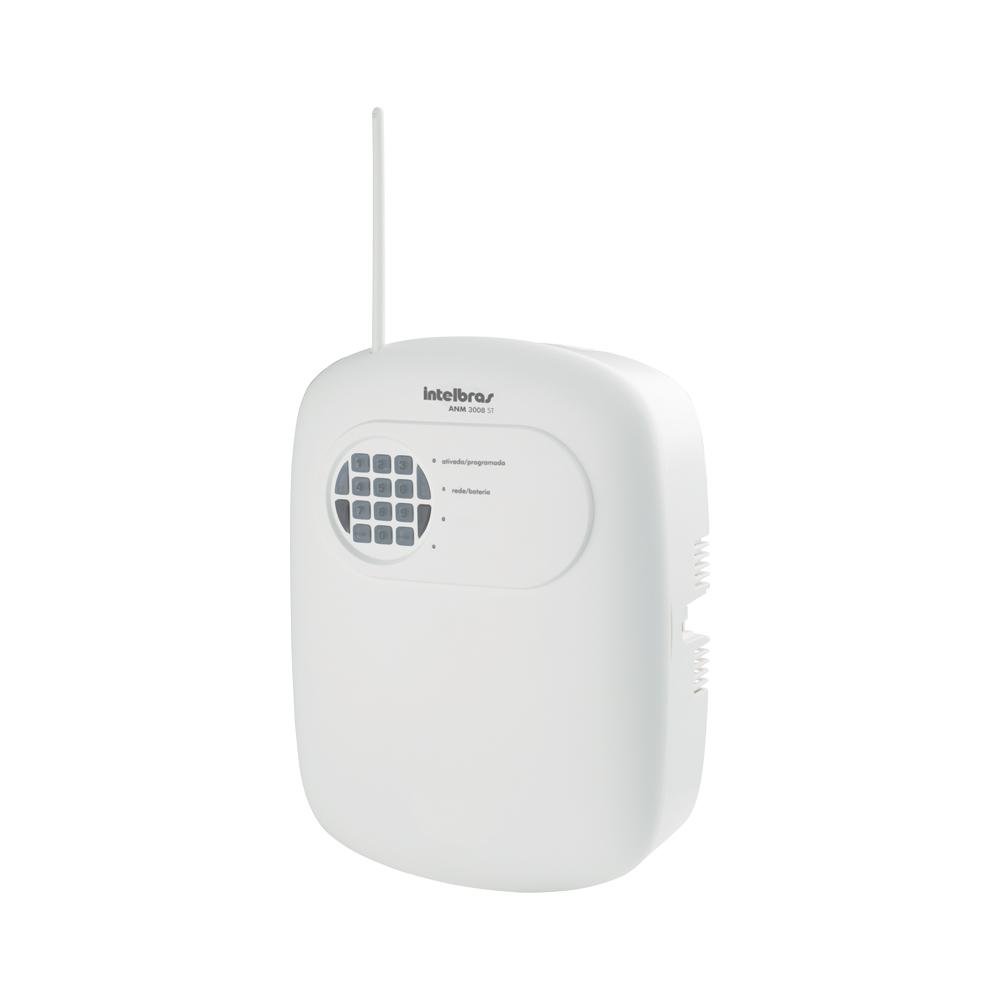 Central de Alarme Sem Fio Intelbras ANM 3008 ST, Alarme não monitorado com 8 zonas, Via linha telefônica, 8 Partições independente, Controle Remoto, Discadora