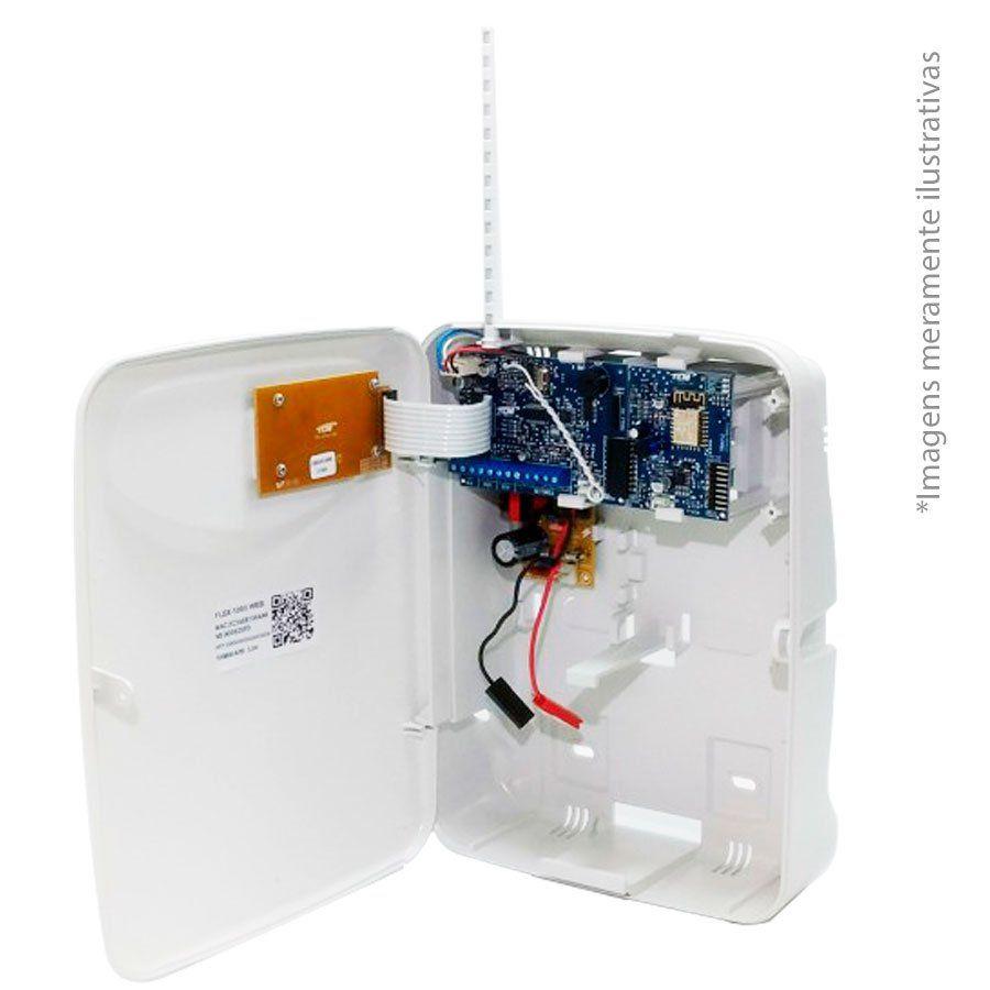 Central de Alarme TEM FLEX 1080, alarme monitorado com 10 setores mistos, com Modo Wifi