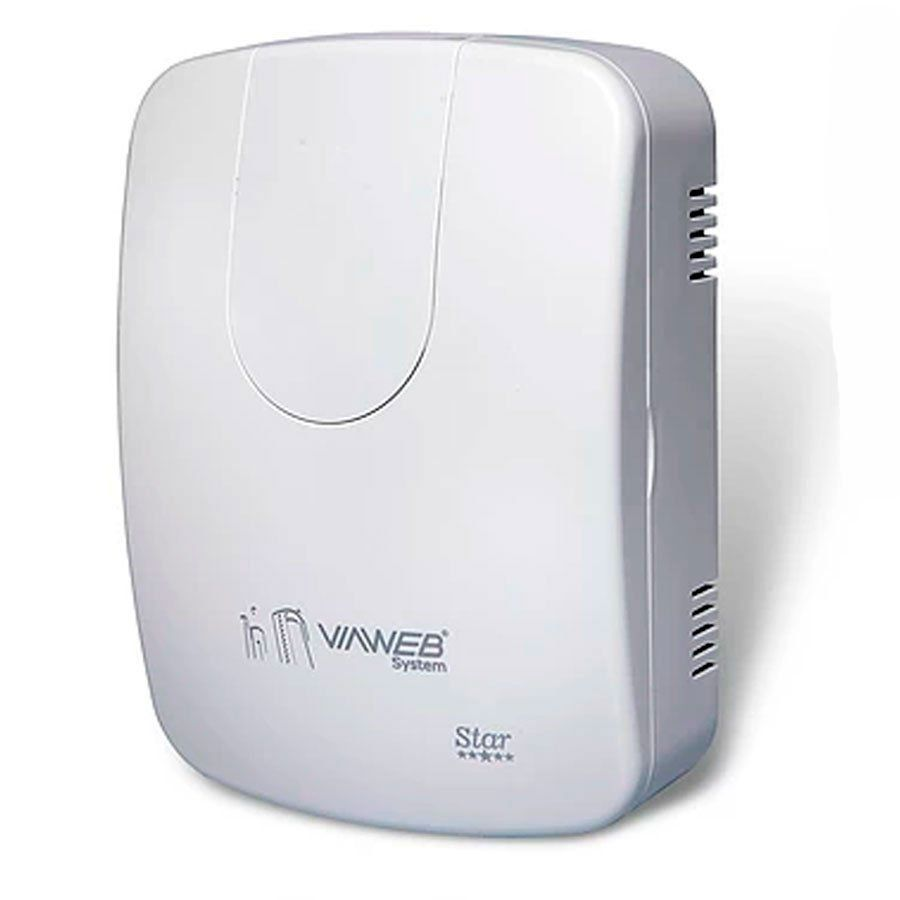 Central de Alarme VW8Z IP Star 8 Zonas Expansíveis ViaWeb INNOVAnet, com Aplicativo Celular Viaweb Mobile