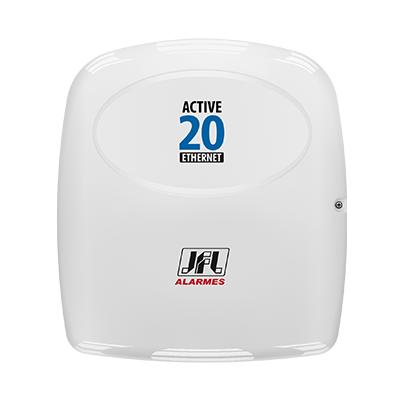 Central Alarme JFL Ethernet Active 20, Acesso via Aplicativo Celular, Monitorável até 22 zonas   - Tudo Forte