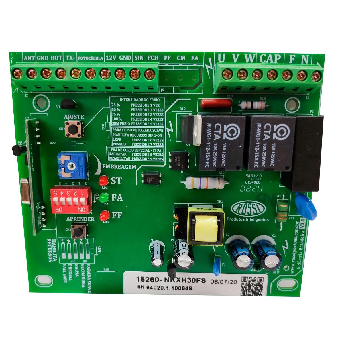 placa-central-de-comando-para-motor-de-portao-inter-dig-rossi-cm-nkxh30-fs-433-mhz