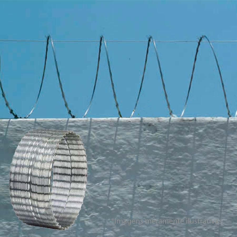 Cerca Concertina Simples - Ouriço Simples com 31,5 cm de diâmetro, Rende aprox. 10 Mts de muro