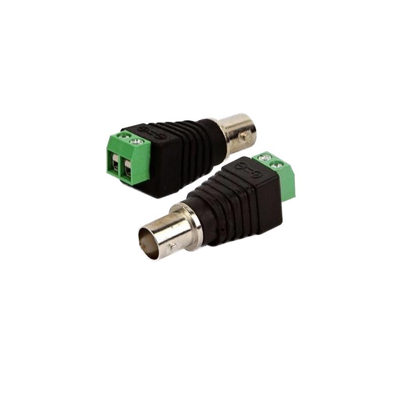Conector Plug BNC Fêmea com Borne  - Tudo Forte