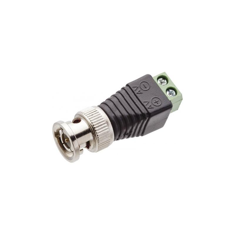 Conector Plug BNC Macho com Borne  - Tudo Forte