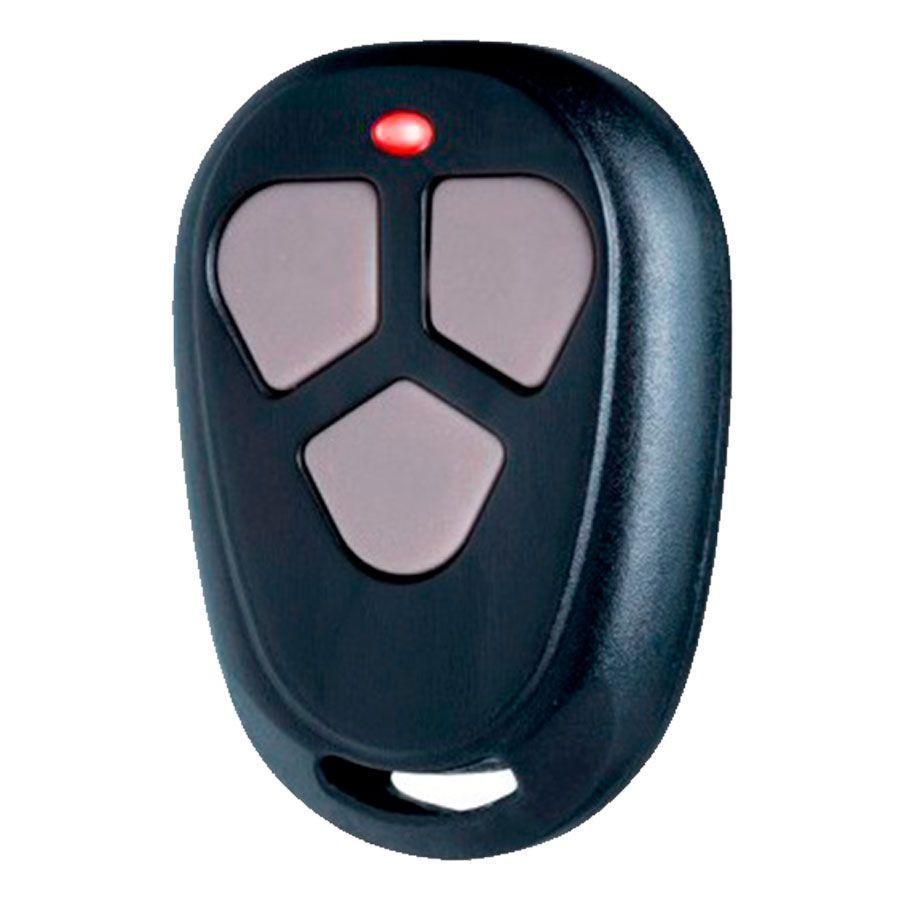 Controle Remoto ECP FIT Alarme e Portão Eletrônico 433 MHz Pequeno na Cor Preta