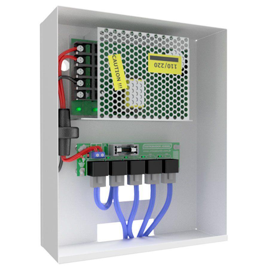 Distribuidor de Vídeo 4x1 Onix Security para Câmeras de Segurança IP