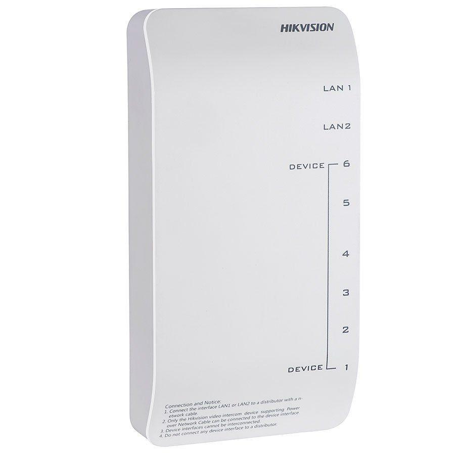 Distribuidor POE Hikvision DS-KAD606-P para Video Porteiro