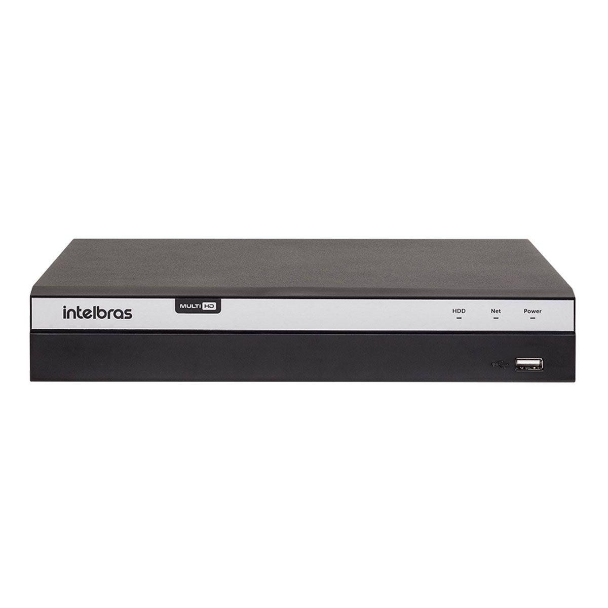 DVR Intelbras 08 Canais Full HD MHDX 3108 1080p Multi HD + 4 Canais IP 5 Mp  - Tudo Forte