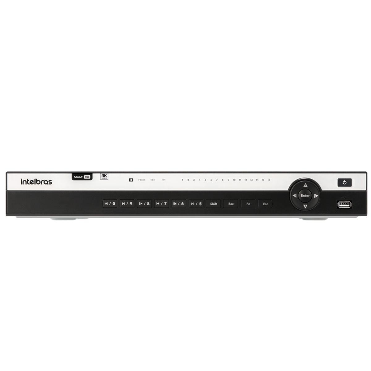 DVR Intelbras MHDX 5208 08 Canais 4K 8MP, Compressão H.265 e Inteligência de Vídeo  - Tudo Forte