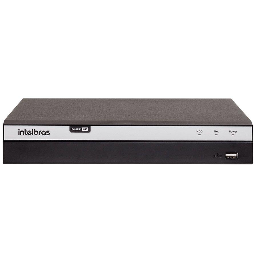 DVR  MHDX 3104 Intelbras Full HD 1080p 4MP Lite 04 Canais HDTVI, HDCVI, AHD, ANALÓGICO, IP  - Tudo Forte