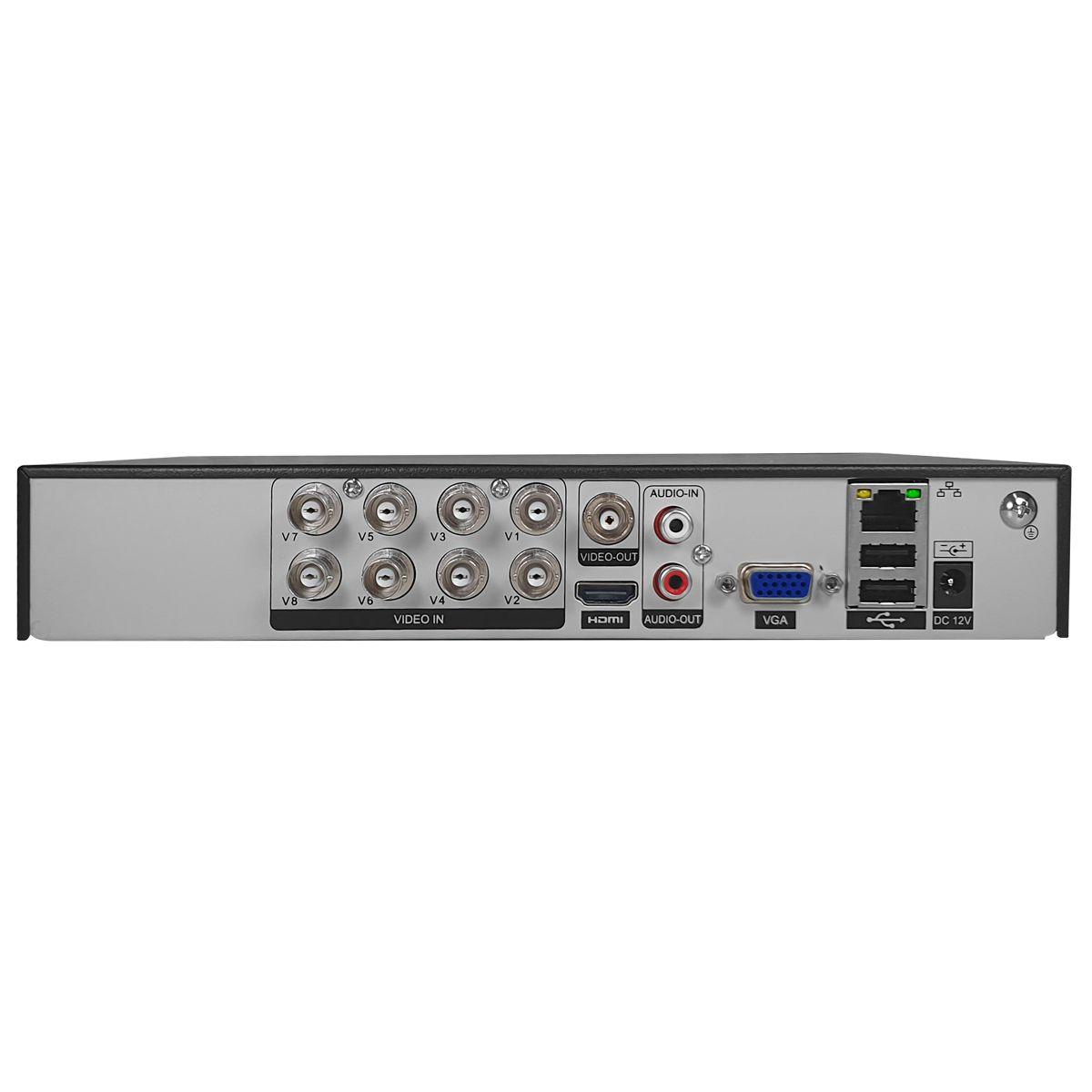 DVR 8 Canais 5MP GS0191 Giga Security Orion, com mais 8 Canais IP, App celular, detecção de pessoas  - Tudo Forte