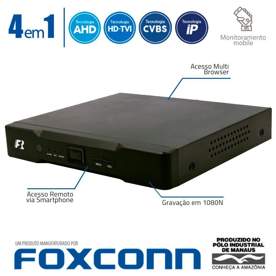 DVR Stand Alone 4 em 1 Focusbras HB5-1M16 - 16 Canais 1080N HDTVI, AHD, ANALÓGICO ou 8 Canais IP Full HD