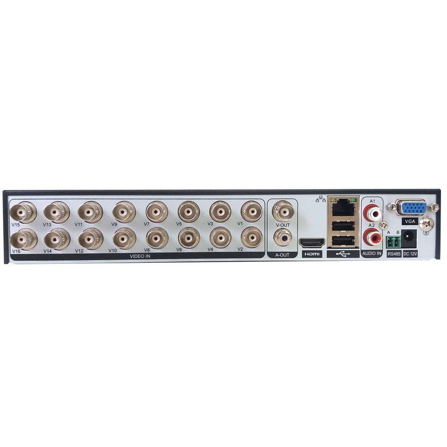 DVR 16 Canais Full HD 1080p GS0182 Giga Security Orion 2MP, App celular, Detecção de pessoas  - Tudo Forte
