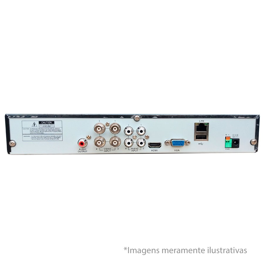 DVR Stand Alone All HD 5 em 1 Luxvision ECD 04 Canais - AHD/ HDTVI / HDCVI / IP / Analógico