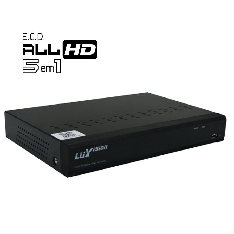 DVR Stand Alone All HD 5 em 1 Luxvision ECD 08 Canais - AHD/ HDTVI / HDCVI / IP / Analógico