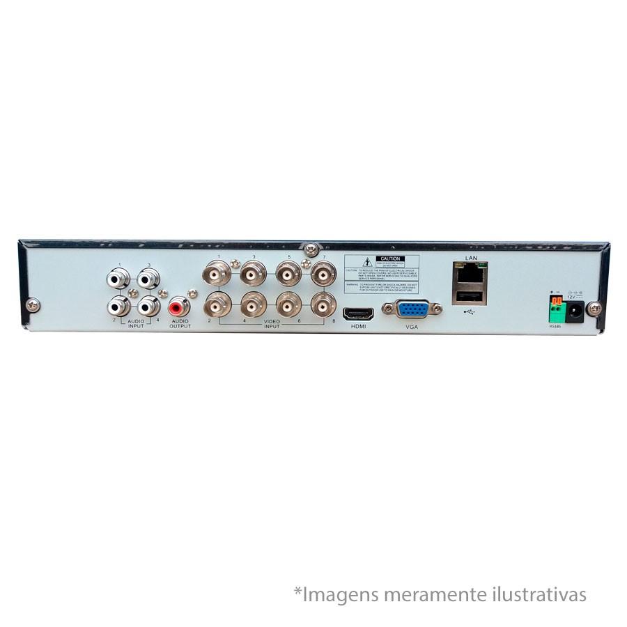 DVR Stand Alone All HD 5 em 1 Luxvision ECD 08 Canais - AHD/ HDTVI / HDCVI / IP / Analógico  - Tudo Forte