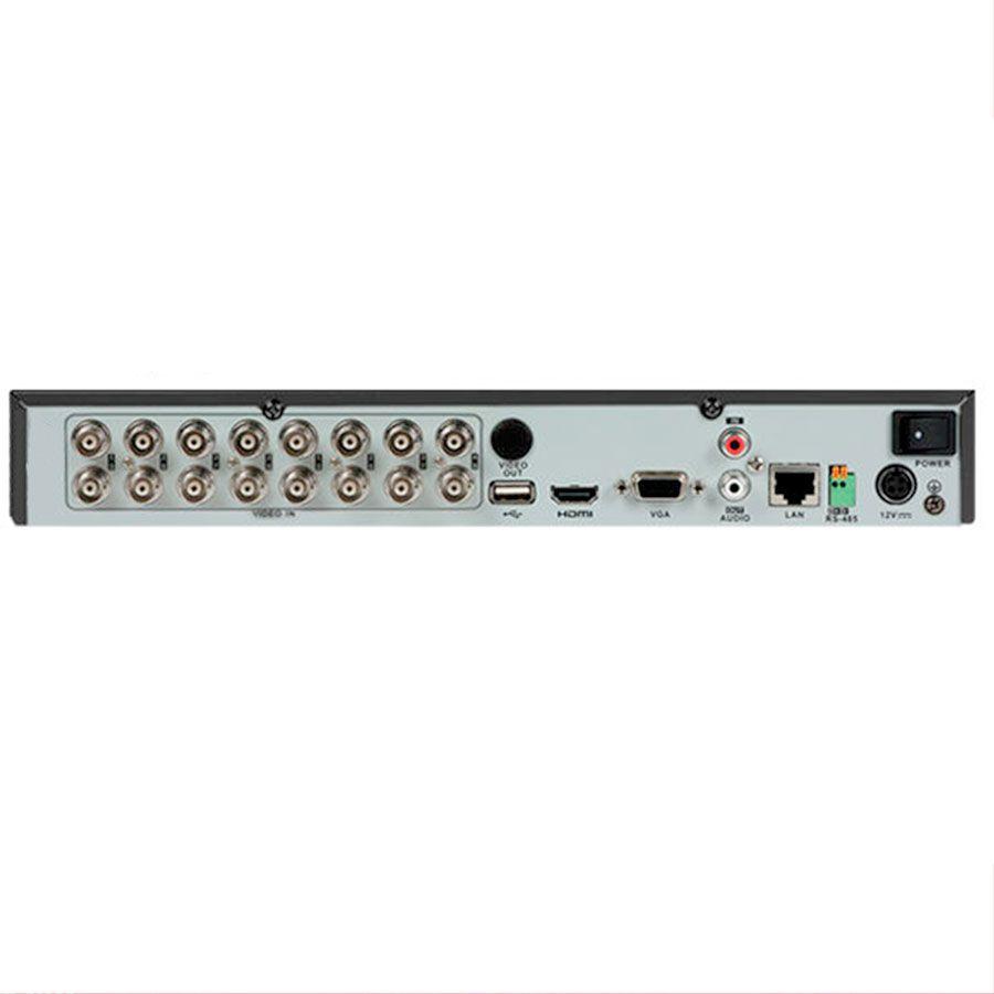 DVR Hikvision 16 Canais Full HD 1080P DS-7216HQHI-F1/N, HDCVI, HDTVI, AHD, ANALÓGICO