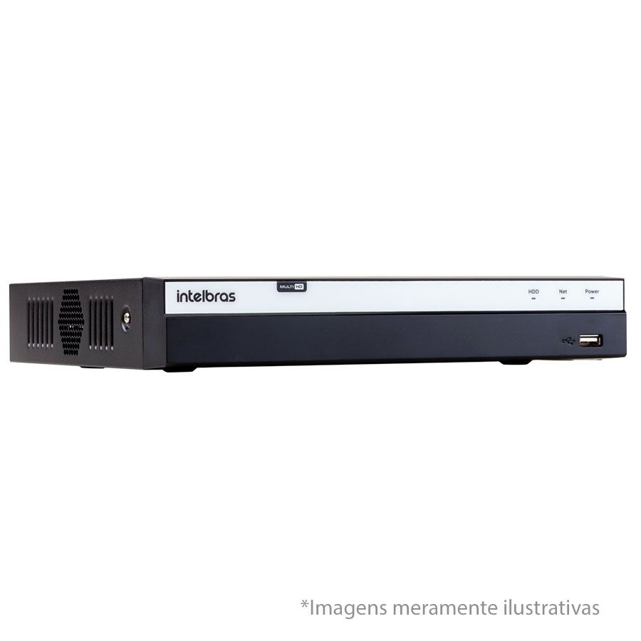 DVR Stand Alone Intelbras MHDX 3004 04 Canais Full HD 1080p Multi HD + 02 Canais IP 5 Mp