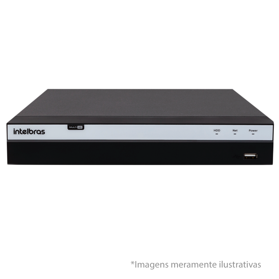 DVR Stand Alone Intelbras MHDX 3016 16 Canais Full HD 1080p Multi HD + 08 Canais IP 5 Mp + HD WD Purple 3TB