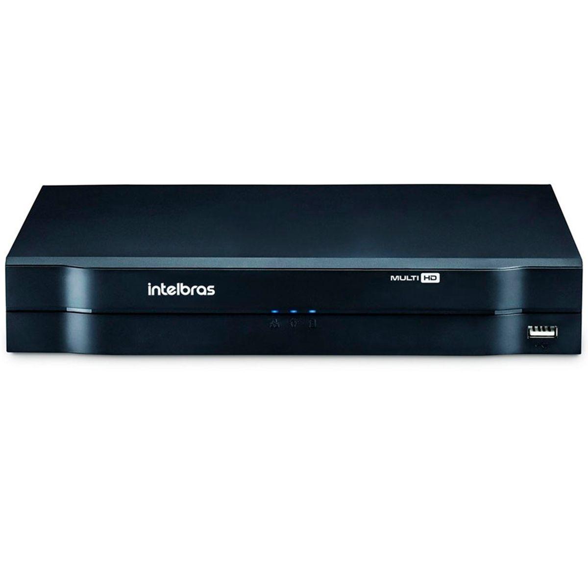 DVR Stand Alone Multi HD Intelbras MHDX-1008 08 Canais + HD 1TB WD Purple de CFTV (Não instalado)  - Tudo Forte