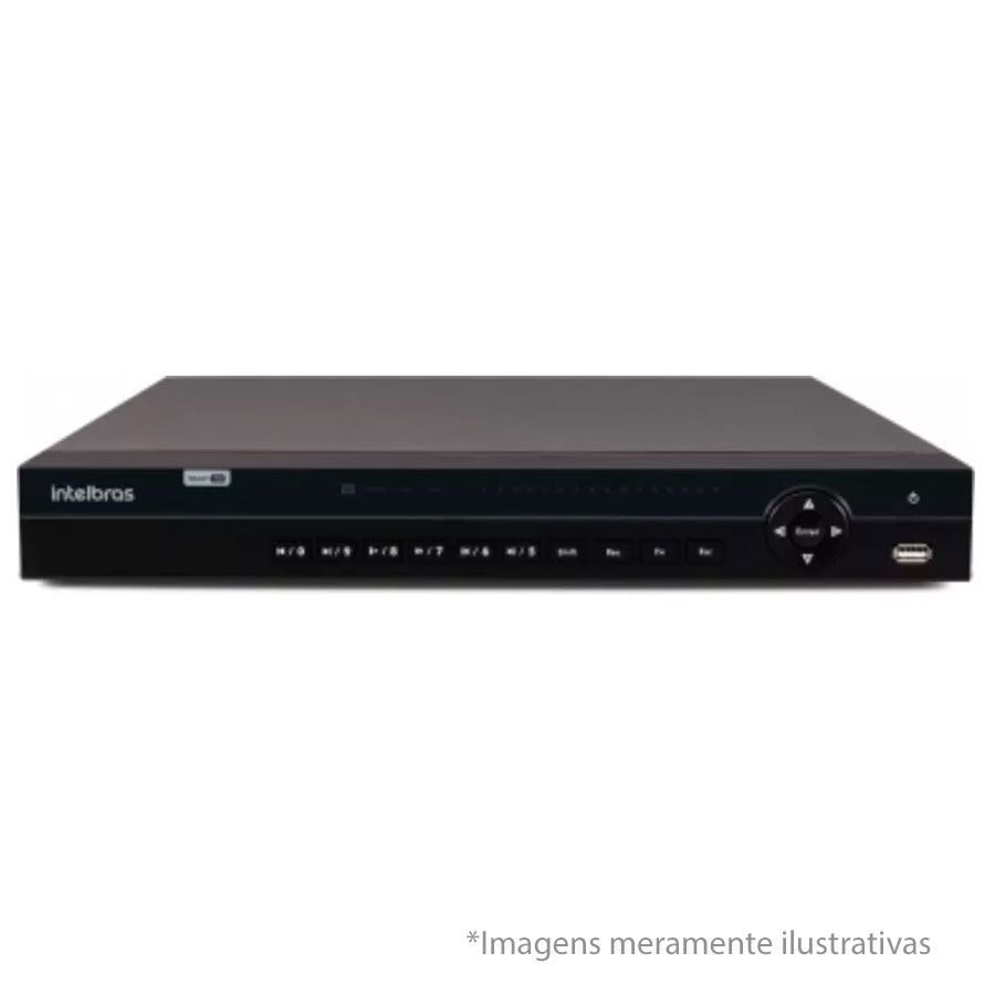 DVR Stand Alone Multi HD Intelbras MHDX-1032 - 32 Canais BNC ou 16 BNC + 16 IP -  Resolução 1080N HDCVI, HDTVI, AHD, ANALÓGICO