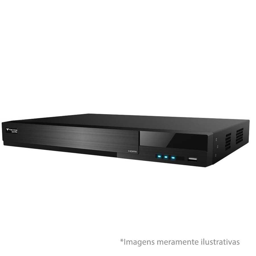 DVR Stand Alone  Tecvoz TW E308 08 Ch 1080N Flex 5 em 1 - HD-TVI / HD-CVI / AHD / CVBS / IP  - Tudo Forte