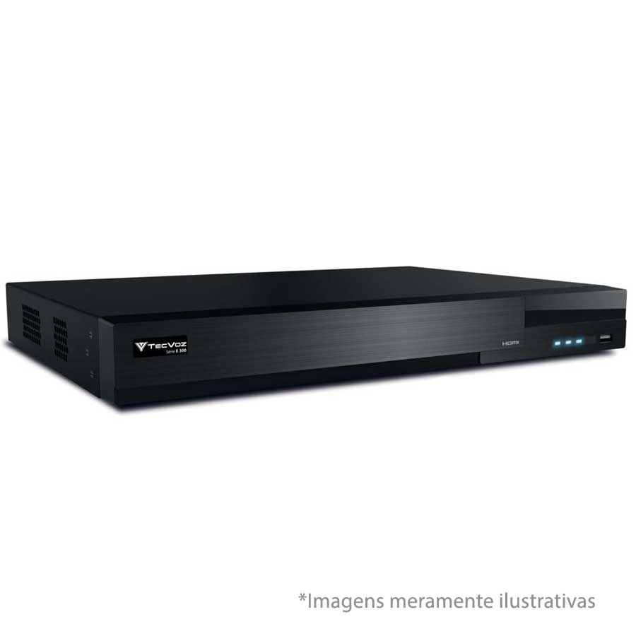 DVR Stand Alone  Tecvoz TW E316 16 Ch 1080N Flex 5 em 1 - HD-TVI / HD-CVI / AHD / CVBS / IP  - Tudo Forte