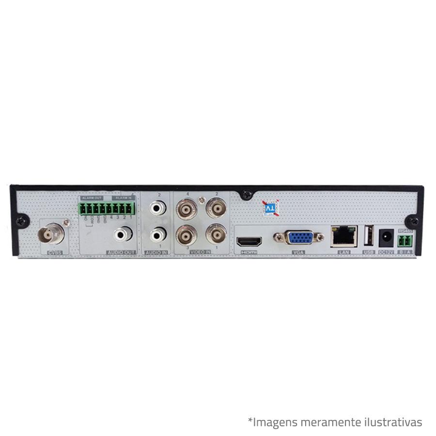DVR Stand Alone Tecvoz TW P3004 04 Ch 1080p Flex 5 em 1 - HD-TVI / HD-CVI / HDCVI / AHD / CVBS / IP