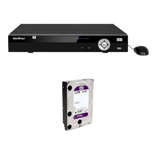 DVR Stand Alone Tríbrido HDTVI Tecvoz T1-LTVI08 08 Canais + HD 2TB WD Purple de CFTV