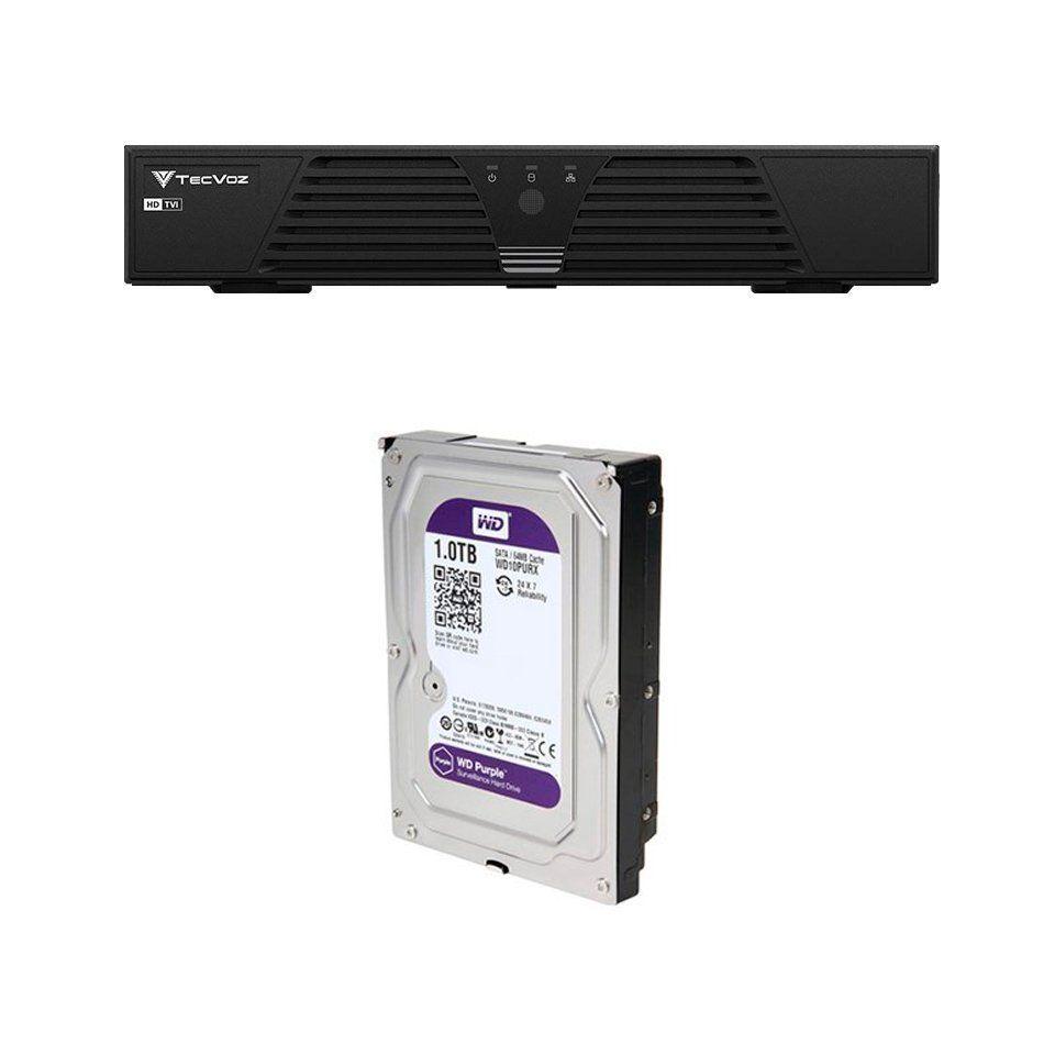 DVR Stand Alone Tríbrido Tecvoz HDTVI T1-LTVI16 + HD 1TB WD Purple de CFTV