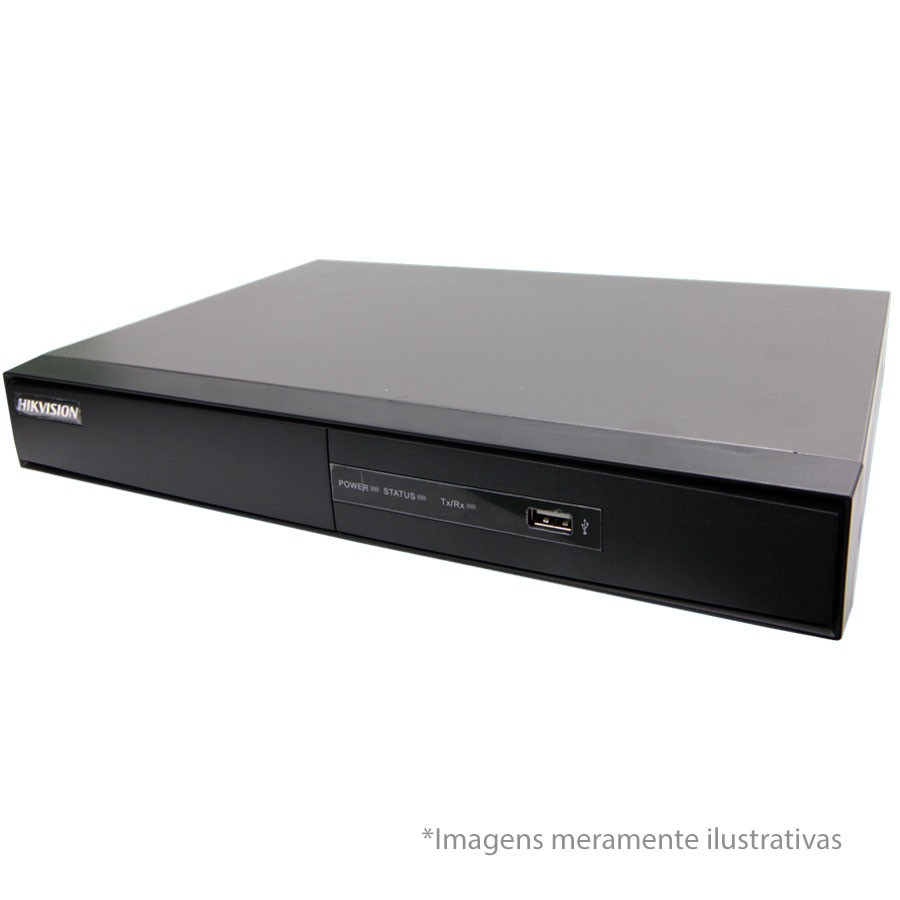 DVR Stand Alone Turbo HD 5 em 1 Full HD 1080p Hikvision 16 Canais - AHD/ HDTVI / HDCVI / IP / Analógico DS-7216HQHI-F1N
