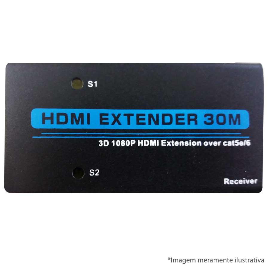 Extensor HDMI via UTP - 30 Metros Importada  - Tudo Forte
