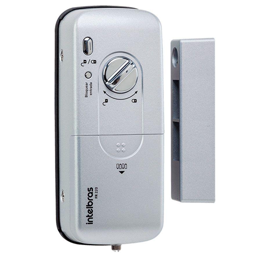 Fechadura Biometria Intelbras FR 220 Eletrônica Digital Acesso por Biometria, Senha ou Cartão Proximidade  - Tudo Forte
