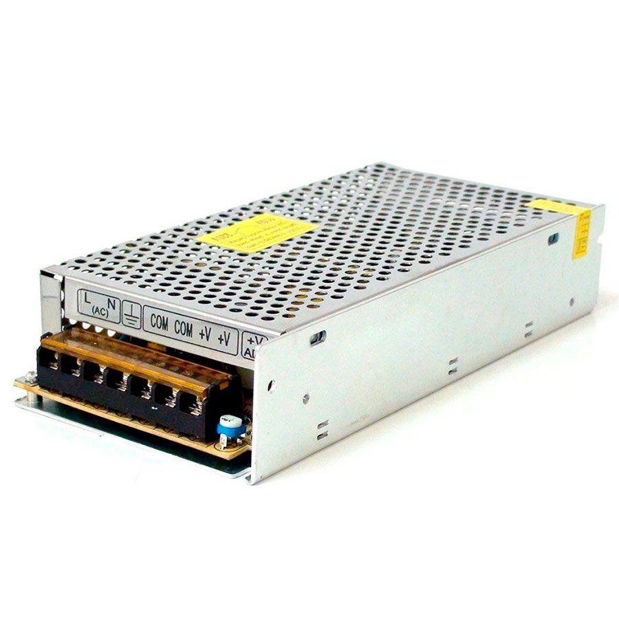 Fonte Chaveada 12V 10A Tipo Colméia, Ideal para CFTV  - Tudo Forte