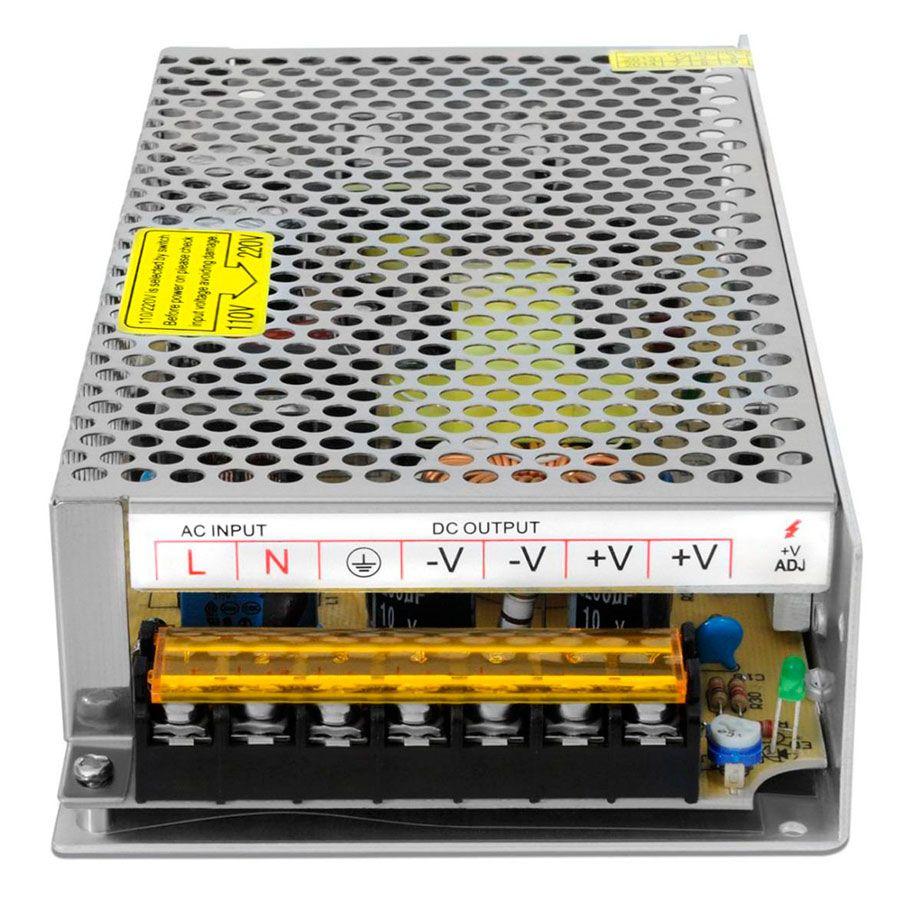 Fonte Chaveada 12V 15A Tipo Colméia, Ideal para CFTV