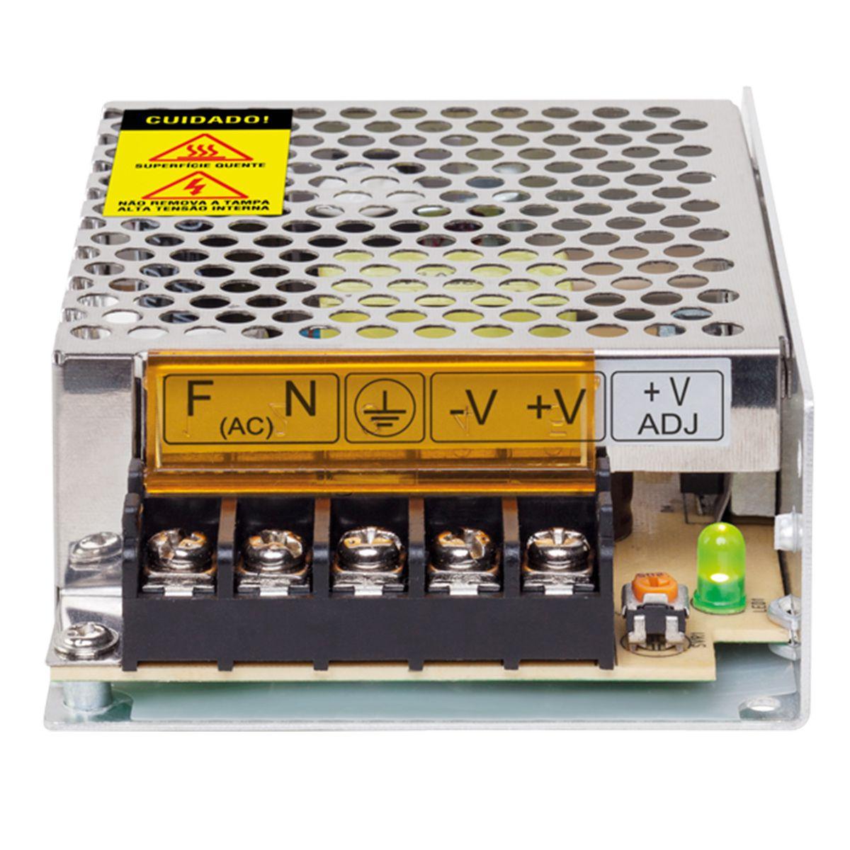 Fonte de Alimentação Intelbras EFM 1205 Bivolt 12V 5A Multicâmera  - Tudo Forte