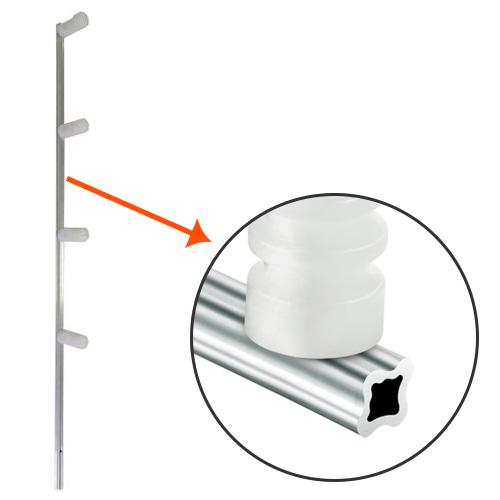 Haste Cerca Elétrica 75cm com 04 Isoladores modelo Estrela  - Tudo Forte