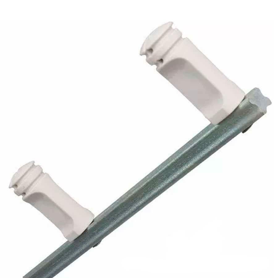 Haste Cerca Elétrica de Ferro Maciço 75cm com 04 Isoladores  - Tudo Forte