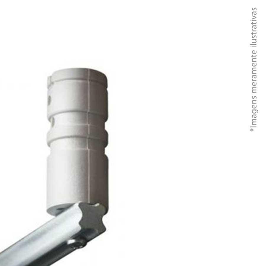 Haste Cerca Elétrica de Ferro Maciço 75cm com 04 Isoladores