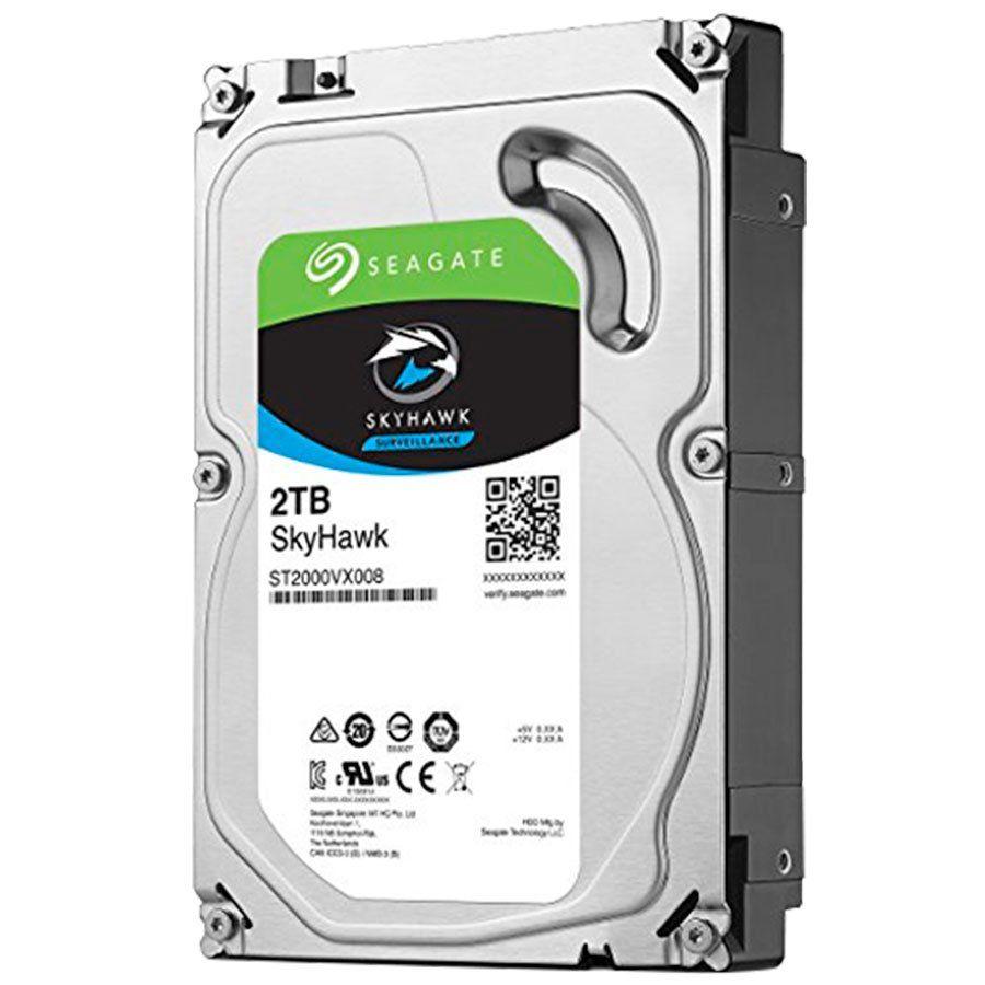 HD 2TB Seagate Surveillance SkyHawk Interno 3.5'' SATA3 (ST2000VX008) - Discos rígidos para Vigilância